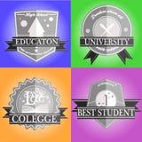 Emblema da educação Fotos de Stock Royalty Free