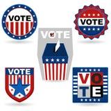 Emblema da eleição Fotos de Stock Royalty Free
