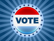 Emblema da eleição do voto Foto de Stock