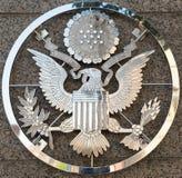 Emblema da embaixada dos E.U. em Ottawa Ontário Canadá imagem de stock royalty free