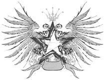 Emblema da estrela & das asas Fotos de Stock Royalty Free