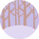 Emblema da floresta Imagens de Stock
