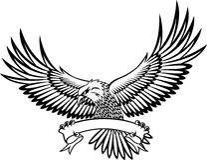 Emblema da águia Fotografia de Stock