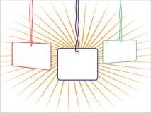 Emblema da identificação ilustração stock