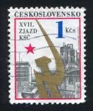 Emblema da indústria e do partido comunista fotografia de stock royalty free