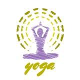 Emblema da ioga Imagens de Stock