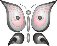 Emblema da liberdade do inseto da coruja da borboleta ilustração royalty free