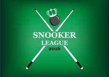 Emblema da liga da sinuca em um fundo verde Imagens de Stock