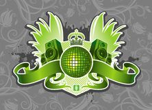 Emblema da música Imagens de Stock