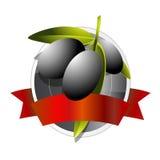 Emblema da qualidade do petróleo verde-oliva ilustração stock