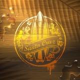 Emblema da ressaca na superfície de madeira Fotografia de Stock Royalty Free