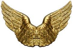 Emblema das asas douradas Imagem de Stock