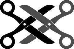 Emblema das tesouras Imagens de Stock Royalty Free