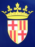 Emblema de Barcelona Foto de archivo libre de regalías