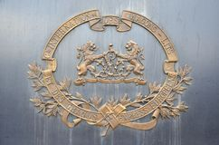 Emblema de cobre Fotografía de archivo libre de regalías