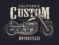 Emblema de encargo de la moto del vintage Fotografía de archivo