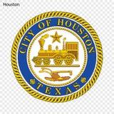 Emblema de Houston ilustração stock