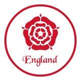 Emblema de Inglaterra con Tudor Rose en blanco ilustración del vector