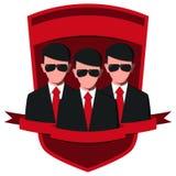 Emblema de la agencia de seguridad Imagen de archivo libre de regalías