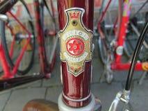 Emblema de la bici de Holland Gedep de la unión del vintage fotografía de archivo