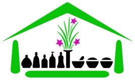 Emblema de la casa del balneario Foto de archivo libre de regalías