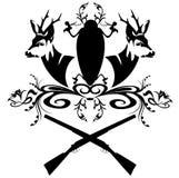 Emblema de la caza ilustración del vector