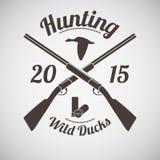 Emblema de la caza Foto de archivo
