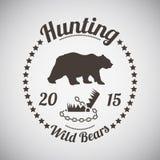 Emblema de la caza Fotos de archivo