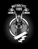 Emblema de la cinta de la motocicleta Imagen de archivo libre de regalías
