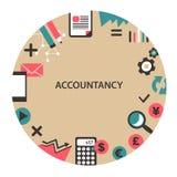 Emblema de la contabilidad Foto de archivo