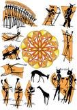 Emblema de la cueva stock de ilustración
