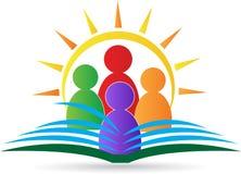 Emblema de la escuela stock de ilustración