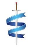 Emblema de la espada Foto de archivo libre de regalías