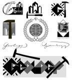 Emblema de la geología Imagen de archivo libre de regalías
