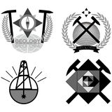 Emblema de la geología stock de ilustración