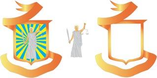 Emblema de la justicia Foto de archivo libre de regalías