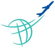 Emblema de la línea aérea Imágenes de archivo libres de regalías