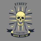 Emblema de la lucha callejera ilustración del vector