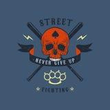 Emblema de la lucha callejera Foto de archivo libre de regalías
