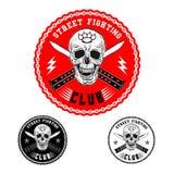 Emblema de la lucha de la calle Imágenes de archivo libres de regalías