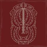 Emblema de la música rock Imagenes de archivo