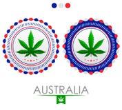 Emblema de la marijuana de Australia libre illustration
