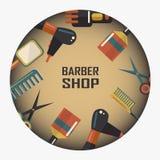 Emblema de la peluquería de caballeros Fotografía de archivo