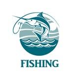 Emblema de la pesca de los peces espadas Fotografía de archivo libre de regalías