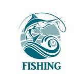Emblema de la pesca de los peces espadas Fotos de archivo