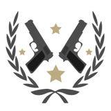 Emblema de la pistola Imagenes de archivo