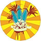 Emblema de la resaca Fotografía de archivo libre de regalías