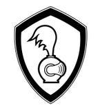 Emblema de la seguridad Fotografía de archivo libre de regalías