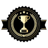 Emblema de la taza del ganador Fotografía de archivo libre de regalías