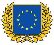 Emblema de la unión europea stock de ilustración